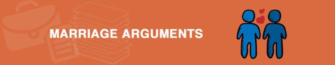 marriege arguments