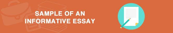 sample of informative essay